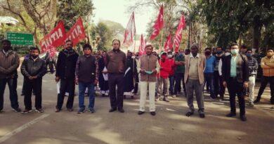 सीएमपीडीआई के कोयला मजदूर यूनियन ने किया प्रदर्शन