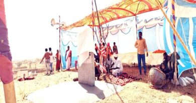 Pathalgadi was done on the plot given to a voluntary organization associated with Art of Living