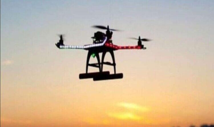 पांच किलो आइईडी के साथ पाकिस्तानी हेक्साकाप्टर ड्रोन को मार गिराया