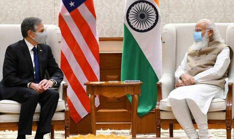अमेरिकी विदेश मंत्री ने की प्रधानमंत्री मोदी से मुलाकात