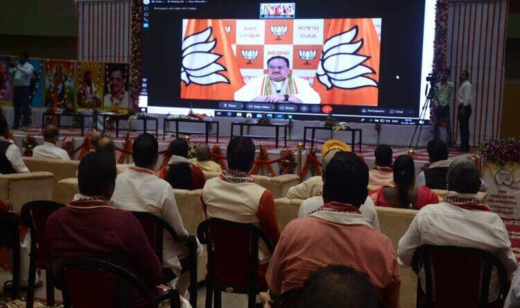 कांग्रेस ने संविधान निर्माता बाबा साहब अम्बेडकर का अपमान किया : जेपी नड्डा