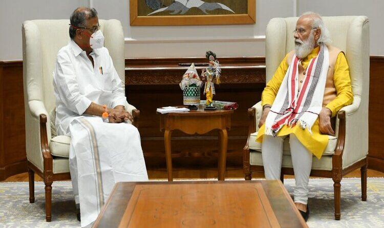 मणिपुर के राज्यपाल गणेशन ने प्रधानमंत्री से की मुलाकात
