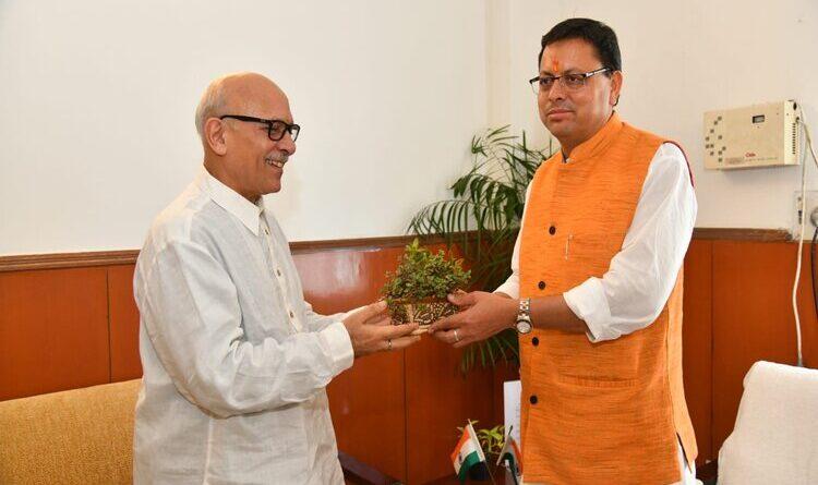 प्रधानमंत्री के सलाहकार खुल्बे ने मुख्यमंत्री से केदार-बद्री मास्टर प्लान पर की चर्चा