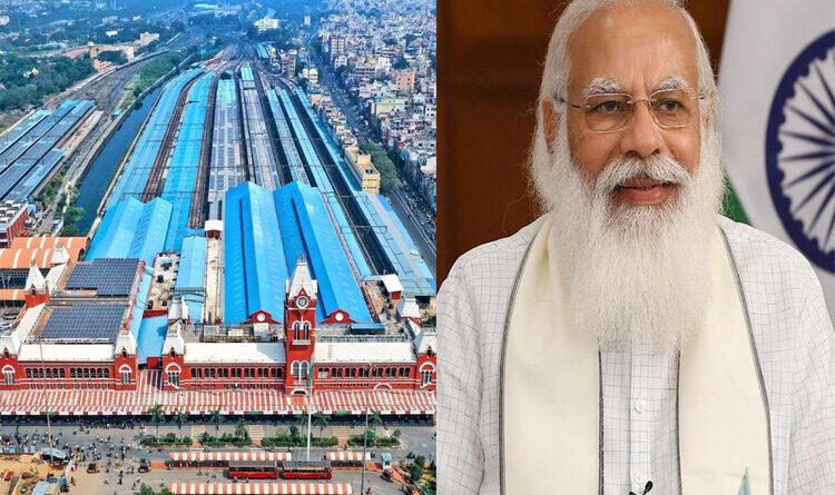 प्रधानमंत्री ने डॉ. एम.जी. रामचंद्रन सेंट्रल रेलवे स्टेशन के शत प्रतिशत सौर ऊर्जा युक्त होने पर जताई खुशी